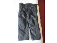 Ladies short leg summer weight motorbike trousers (Weiss) sixe 4XL (ladies 18-20)