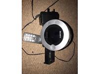 Sony Digital radio alarm with iPod attachment