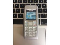 Very Good CLASSIC Nokia 1600 SIM-Free RETRO Unlocked Mobile Phone with Charger in Silver