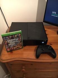 Microsoft Xbox One 500 GB Black Console + Sealed Grand Theft Auto 5 GTA