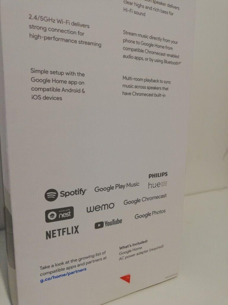 NEW sealed Google Home smart assistant speaker (like Amazon Alexa) | in  Lowton, Cheshire | Gumtree