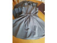 Grey School Pinafore dress age 7-8 very good condition