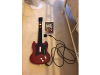 Playstation 2 PS2 Guitar Hero Gibson Red Octane Wired Guitar AND game - EXCELLENT CONDITION