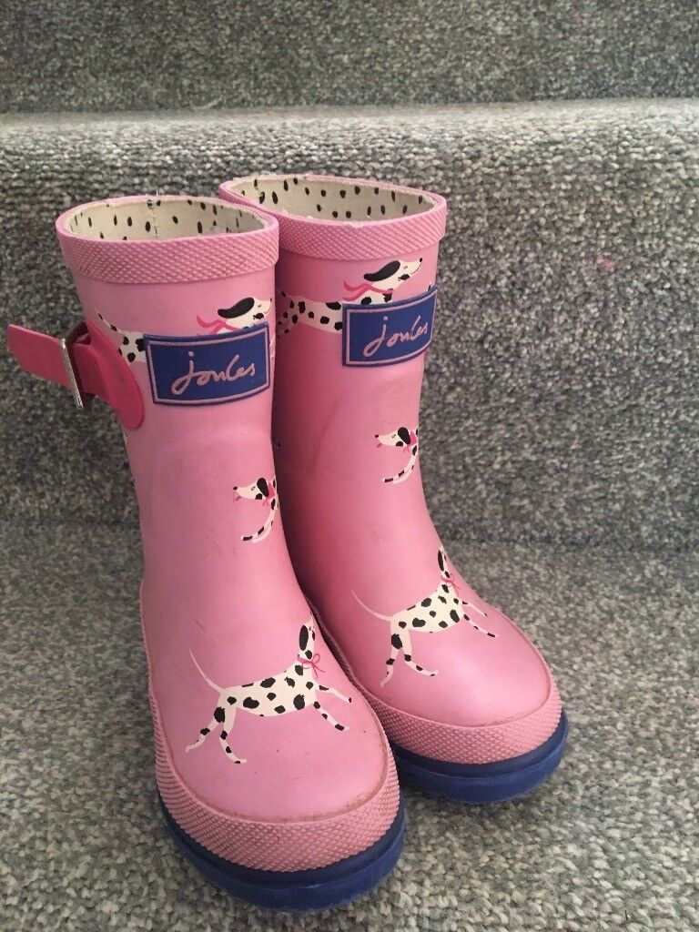 Girls joules wellingtons