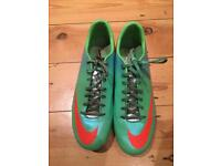 Nike Mercurial men's football boots, size 9