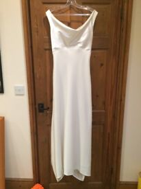 Vintage Simple Wedding Dress UK Size 10-12 (second hand)