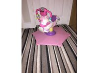 Girls spin and bouncer zebra fisher price