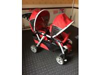 Chicco double pushchair nice and clean condition