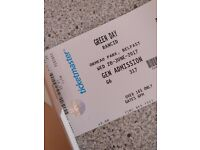 SOLD- 2tickets Green day ormeau park