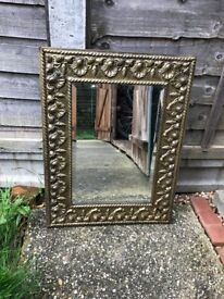 Beautiful Antique Mirror with gold edging