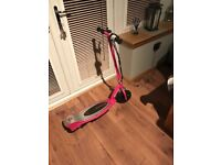Girls pink electric scooter