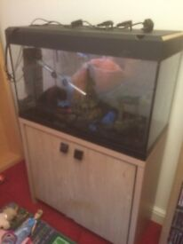Fluval Roma fish Tank and Stand + Accessories