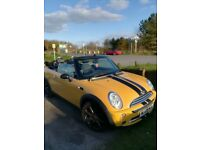 Stunning yellow Mini convertible