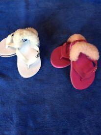 Ugg flip flops infant size 4