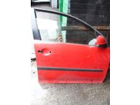 VW GOLF 5DOOR MK5 2004-2008 OSF DRIVER SIDE FRONT RIGHT FRONT DOOR RED LY3D