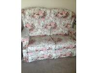 Two seater lazy boy settee and two armchairs, all recliners