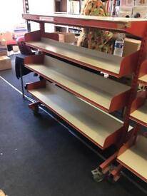 Metal Heavy Duty Shelving/Shelf on wheels - Commercial