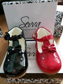 Girls/Toddler/Baby classic Spanish style Patent shoes