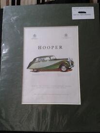 Hooper & Co Car Advert. Rolls Royce.