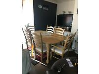 Lovely Solid Wood Extendable Dining Table And 4 Chairs And 2 Carvers... ** DELIVERY AVAILABLE **