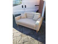 Biege 2 seater sofa