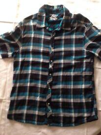 Mens branded, casual shirts, short sleeve, medium X 3