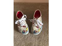 Children's Hello Kitty Vans Size 10.5