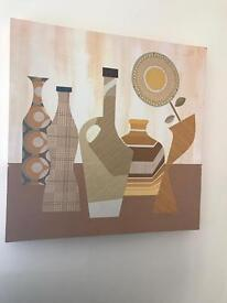 Large Canvas artwork of jugs