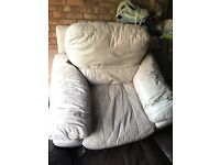 Genuine leather 3 + 1 seater Sofa, DFS original, used for 8 years