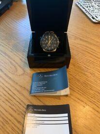 Genuine Mercedes Benz Carbon Edition Chronograph Men's Watch/Carbon Dial