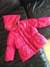 Catimini girls padded jacket 3 years