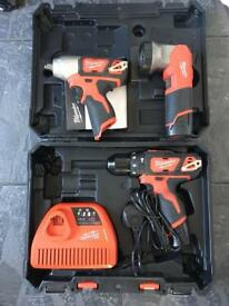 Milwaukee 12 drill, impact and torch