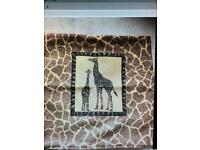 2 x chenille animal design cushion covers
