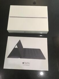"Brand New Apple iPad Pro, 126GB, WiFi, 9.7"", iOS 10, Space Grey, with Smart Keyboard"