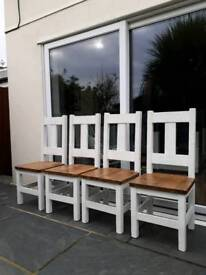 Dining room chairs x 4 Rowlands pine
