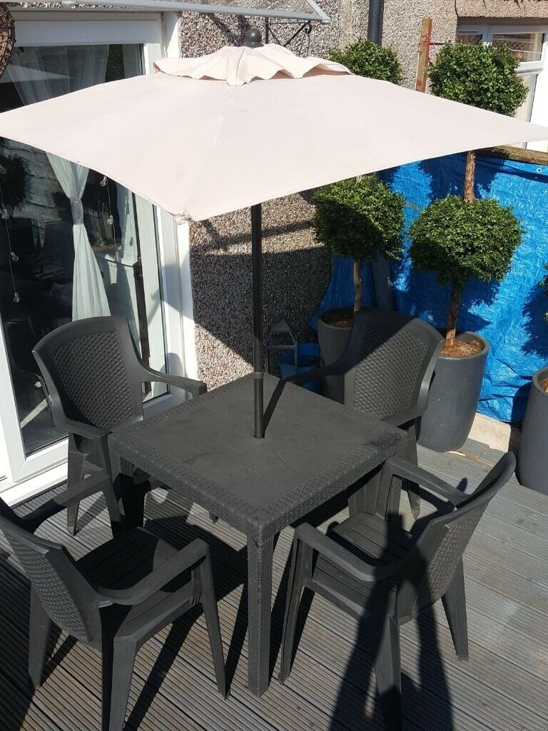Garden Table With Chair And Umbrella In Warrington Cheshire Gumtree