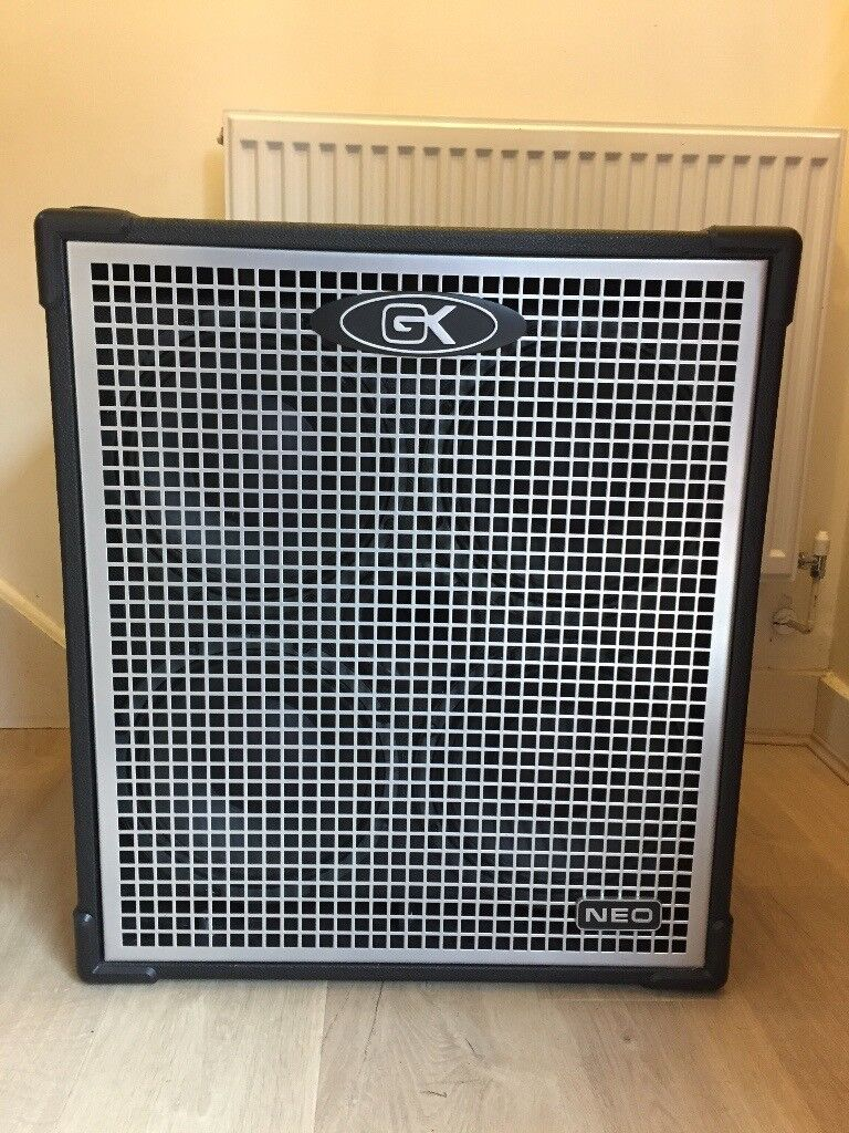 Gallien Krueger Neo 410 (800W 4OHM) Bass Cabinet with Roqsolid Cover - Great Condition