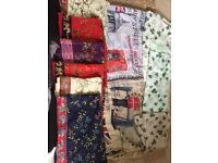 20 scarfs/shawls all for £12 Ono need going ASAP as I need the space 🙂