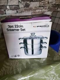 3 piece steamer set