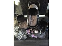 "#now open to offers#Icandy ""strawberry"" pram,carry cot and travel system"
