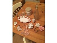 Shabby chic style job lot of items home decor