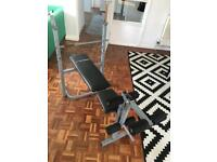 Weight bench with incline