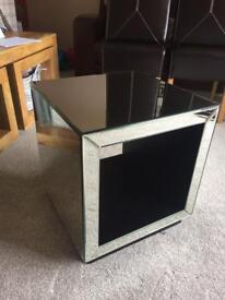 John Lewis mirrored glass table