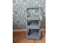 3 tier bathroom storage shelf grey.