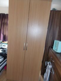 Wardrobe and chest of drawers (4). Last reduction. Oak effect. Excellent cond. Not flat pack. Solid