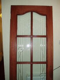 Glazed Hardwood Door.