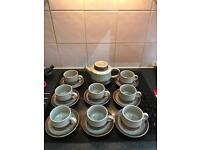 Purbeck tea set and tea pot vintage 70's