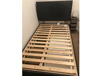 Small Double Divan bed with 1 drawer, colour Grey IKEA BALESTRAND