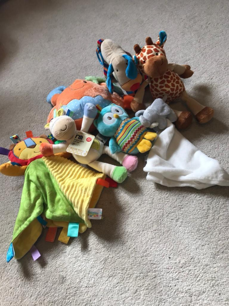 7 soft cuddly toy baby bundle