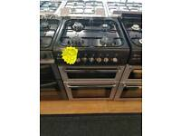 FLAVEL BLACK 60CM DOUBLE OVEN GAS COOKER